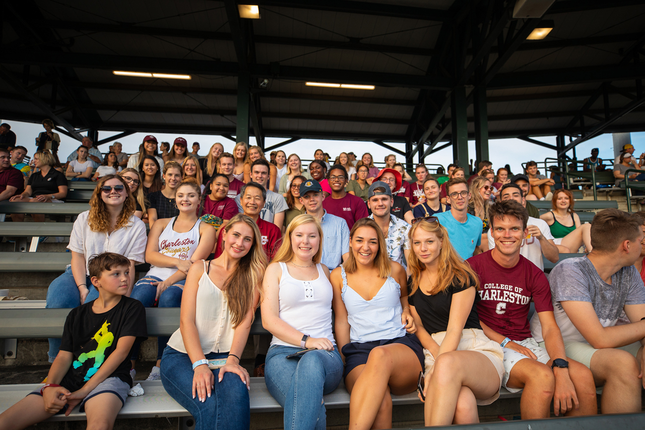 CofC students attend a Charleston RiverDogs baseball game