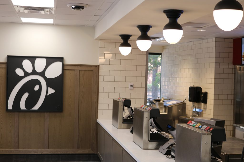 Chick-Fil-A Interior at the College of Charleston