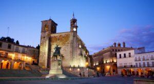Plaza Mayor Trujillo in Trujillo, Spain.