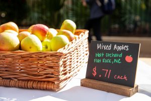 apples for sale at the College of Charleston Farmers Market