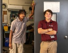 Facilities Management Apprentices Make CofC a Little Cooler