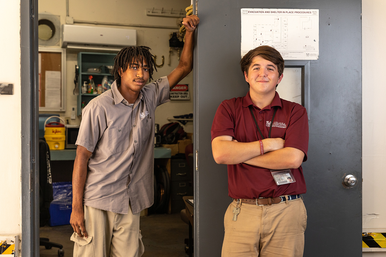 HVAC Apprentices RaeQuan Floyd and Nick Myers