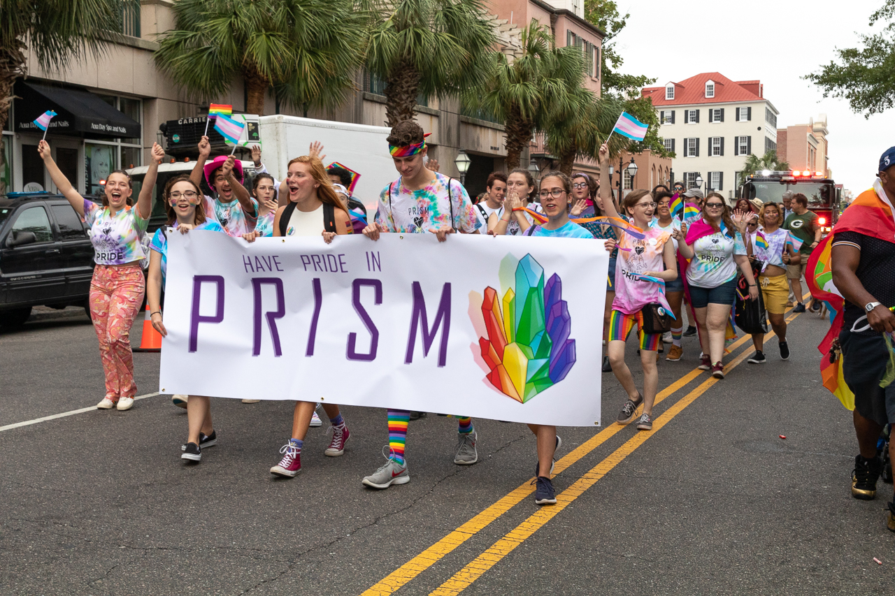 College of Charleston students, faculty and staff march in the 2019 Charleston Pride Parade on Saturday, September 14, 2019.
