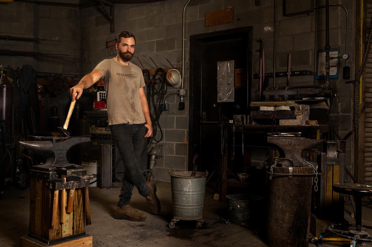 Carey Morton blacksmithing class instructor