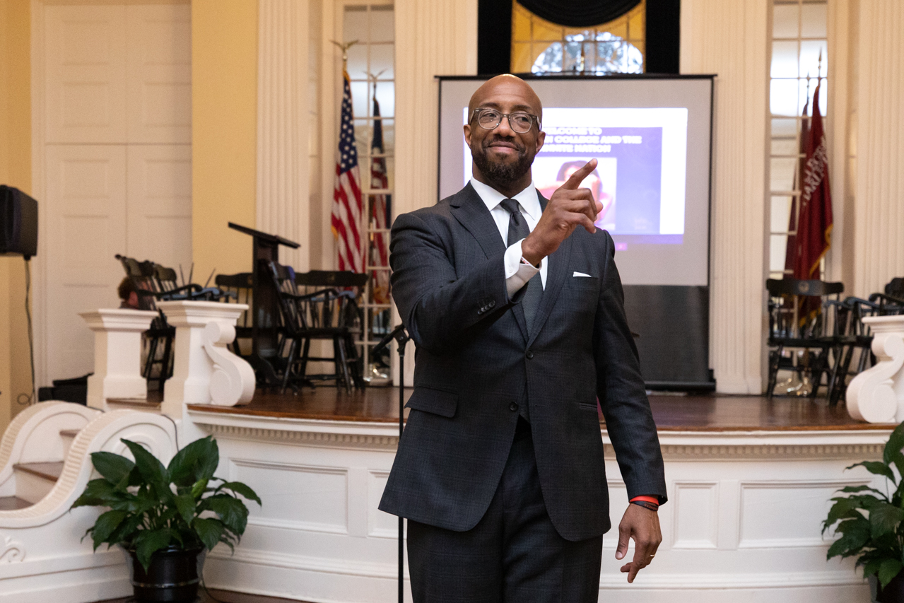Michael Sorrell the President of Paul Quinn College in Dallas, Texas visits the College of Charleston for the Presidential Speaker Series hosted by the Office of Institutional Diversity (OID) on October 8, 2019.