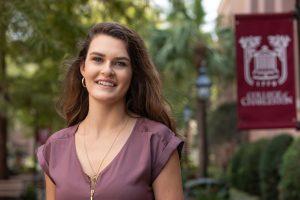 Transfer student Michaela Henderson