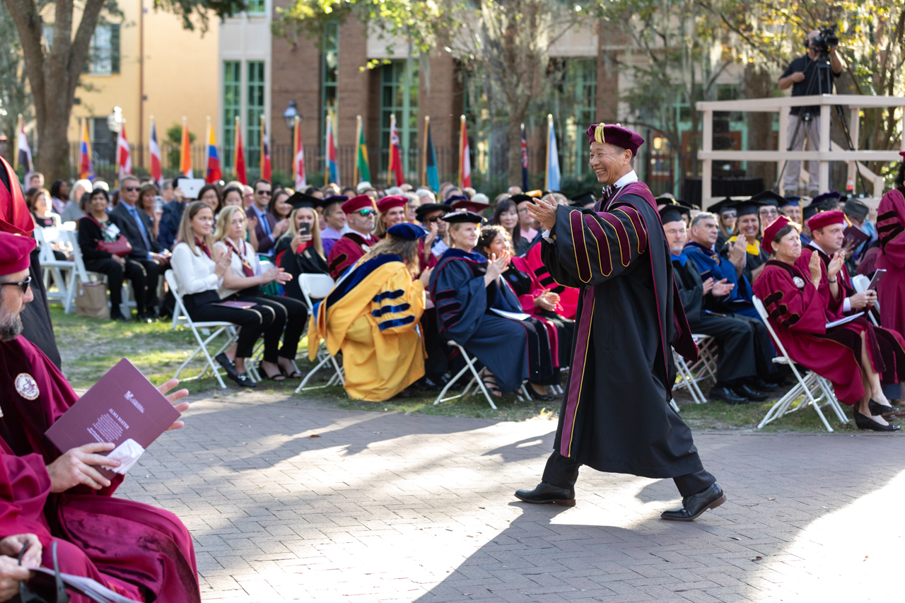 Presidential Inauguration Ceremony for Andrew Toming Hsu, Ph. D. at The College of Charleston in Cistern Yard Friday October 25, 2019.