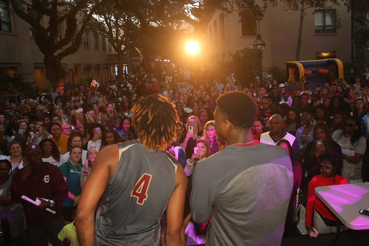 Basketball block party