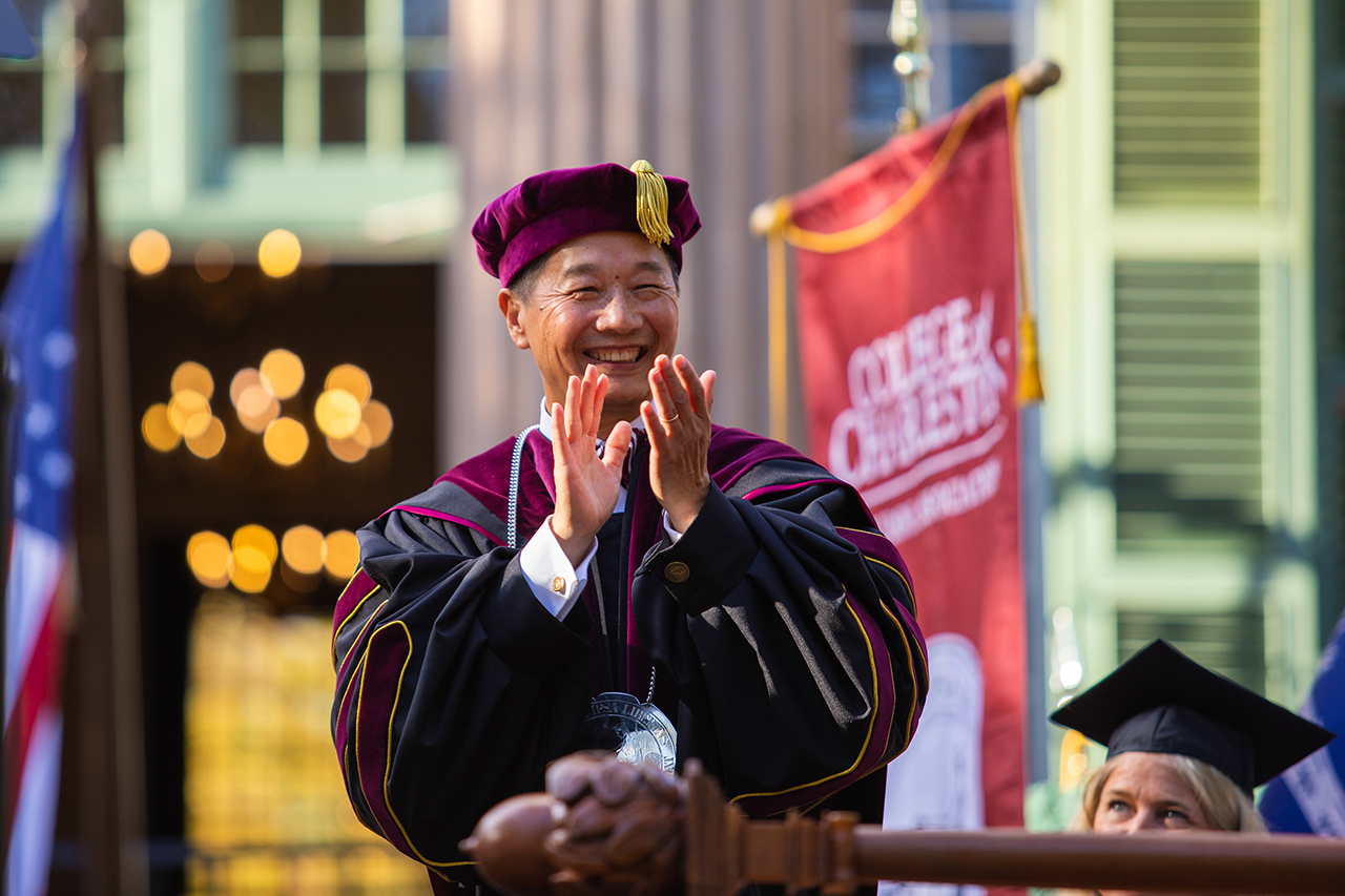 President Andrew Hsu at his inauguration.