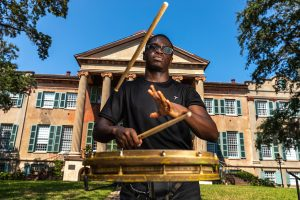 "College of Charleston student William ""Willy"" Frasier's sharp drumming skills have landed him a guaranteed audition for 'America's Got Talent.'"