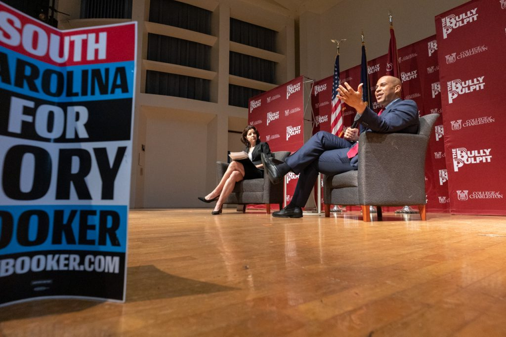 On November 8, 2019 Senator Corey Booker visited Charleston, SC for the Bully Pulpit series hosted by the College of Charleston.