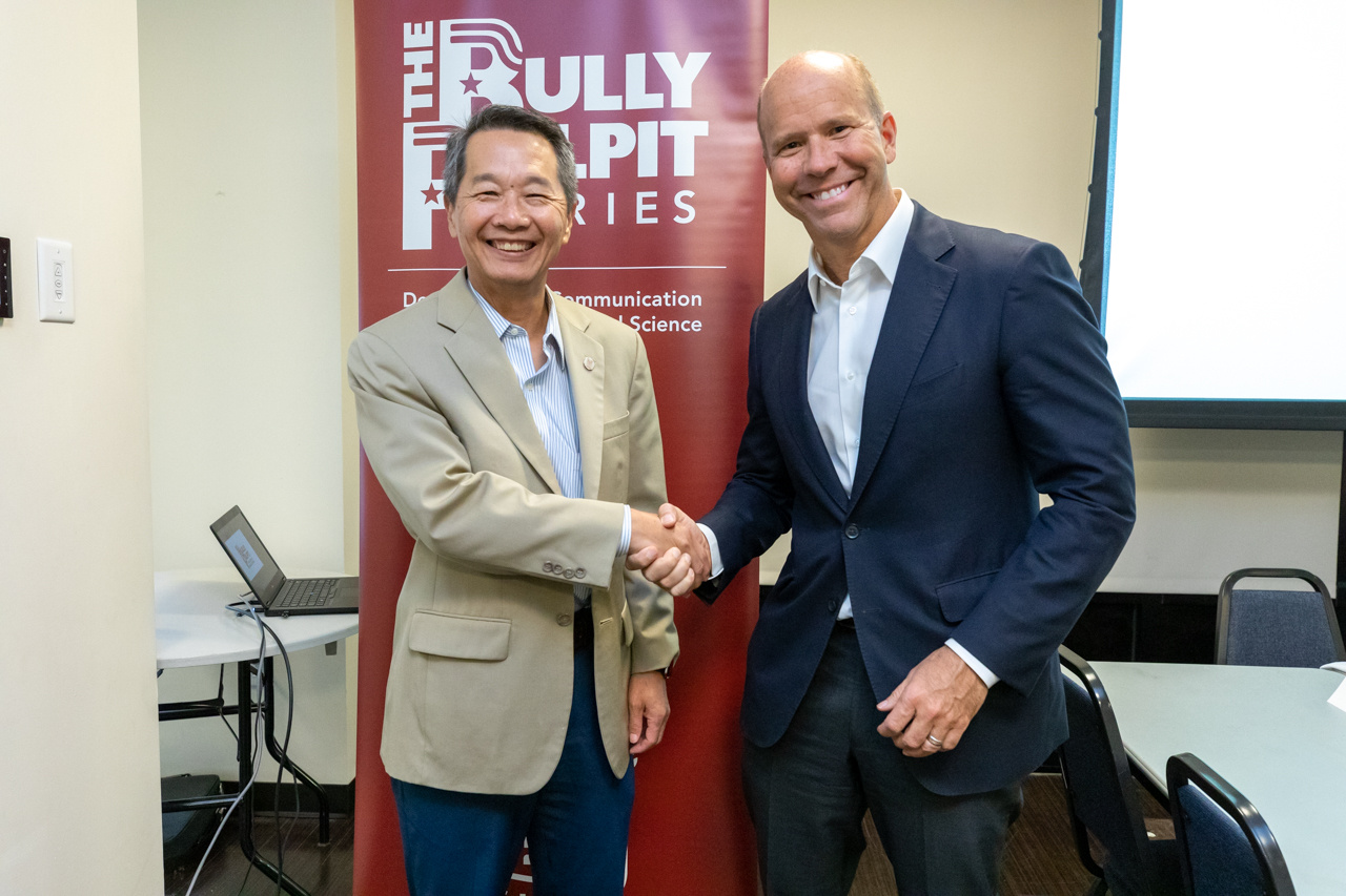 On November 8, 2019 Congressman John Delaney had a Bully Pulpit roundtable discussion with students at the College of Charleston.