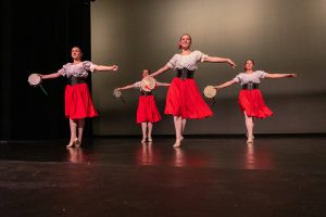 Students perform the Tarentella dance