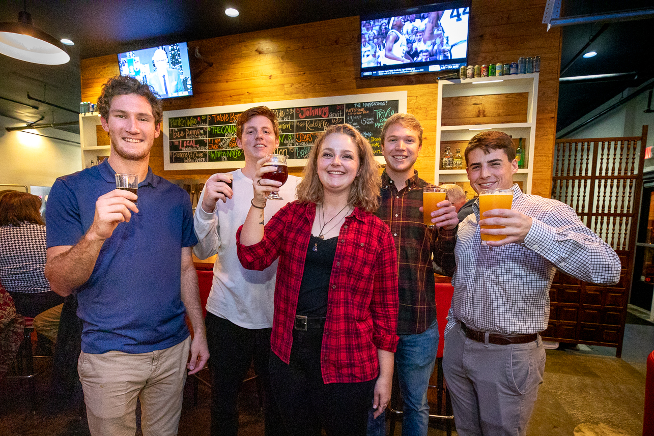 Students, faculty and staff from CofC headed out to The Baker and Brewer to vote for their favorite beer for CofC's 250th Beer made by students interning with Holy City Brewing.