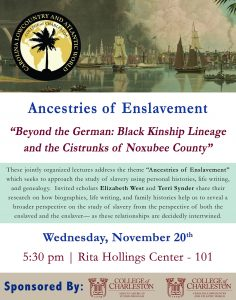 Ancestries of Enslavement Poster