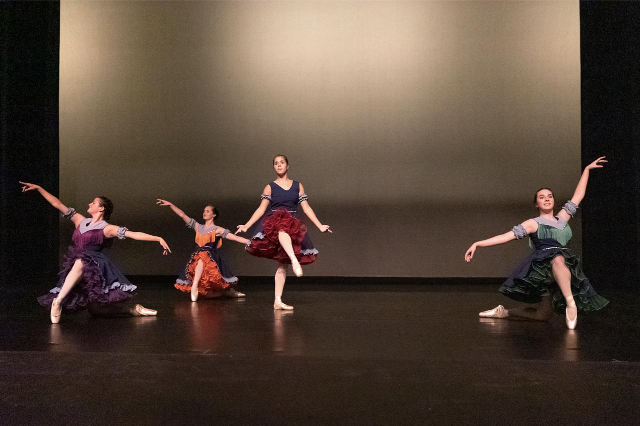 Students perform ballet