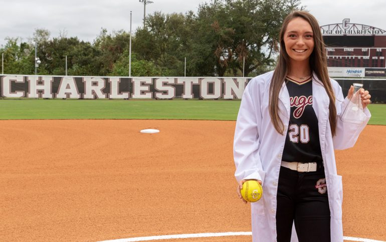 Softball Player Hits a Home Run with Medical Internship