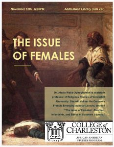 Poster of the consuela francis lecture series