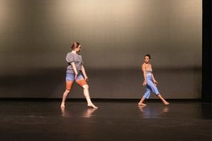 Students perform modern dance