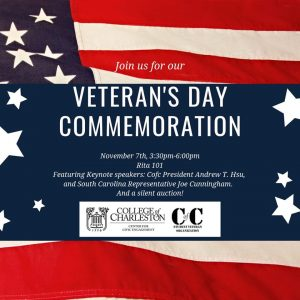 Veterans Day Commemoration informational poster