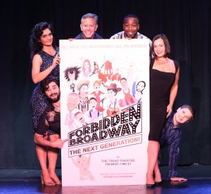 Cast with the Forbidden Broadway poster.
