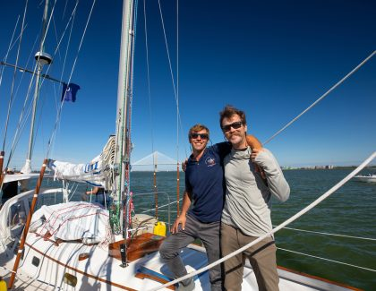 Apparent Winds Shape Alumni Duo's Big Ocean Adventure