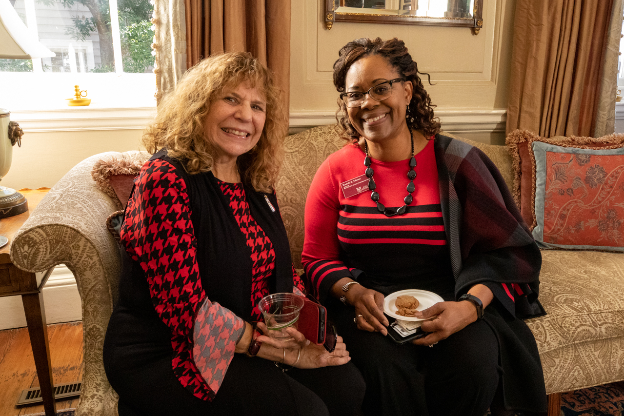 Staff and faculty were invited to the President's house for the annual Holiday Drop-in.