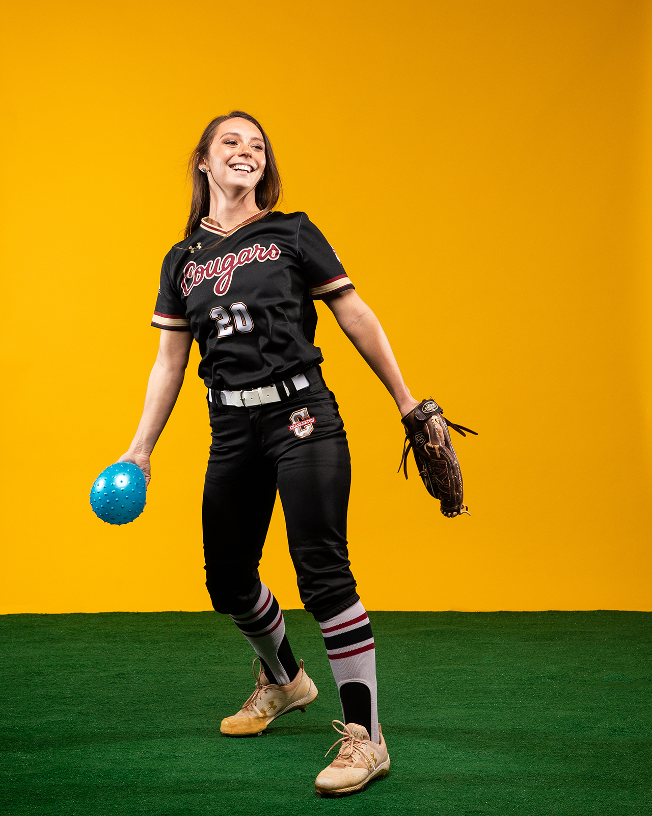 Kylie Burke, softball player, honors student, and double major who interned at the CDC.