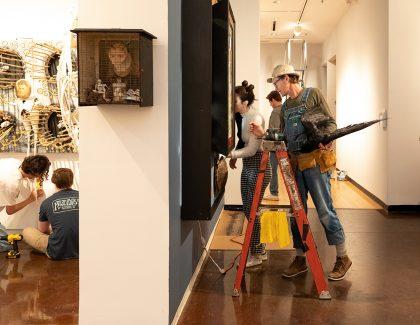Textiles, Textures Explore Folk Genre in New Halsey Exhibits
