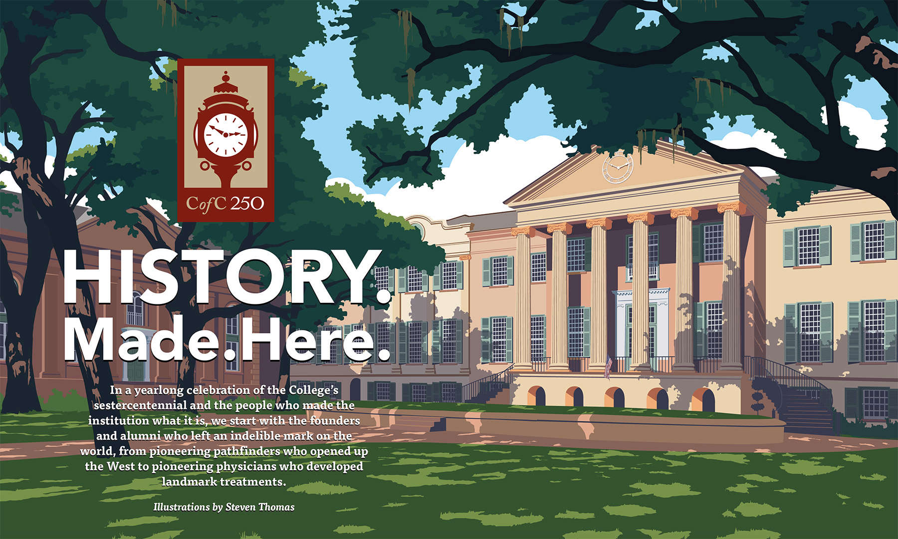 History Made Here with Randolph Hall illustration