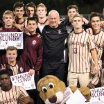 Ralph Lundy with soccer team