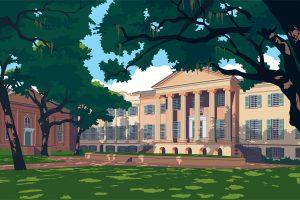 Randolph Hall Illustration