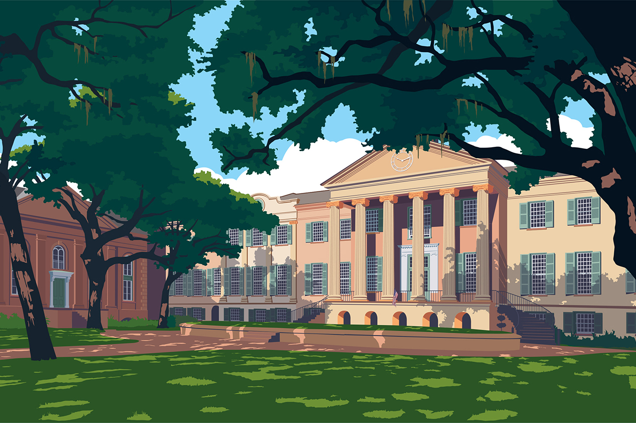 Randolph Hall Illustration