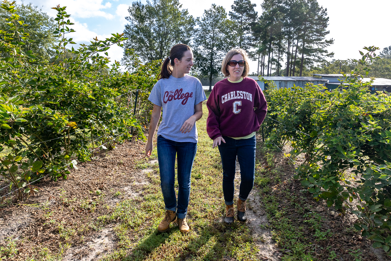 Walter Earley and CofC Alum Karen Parker of Hickory Bluff Berry Farm.