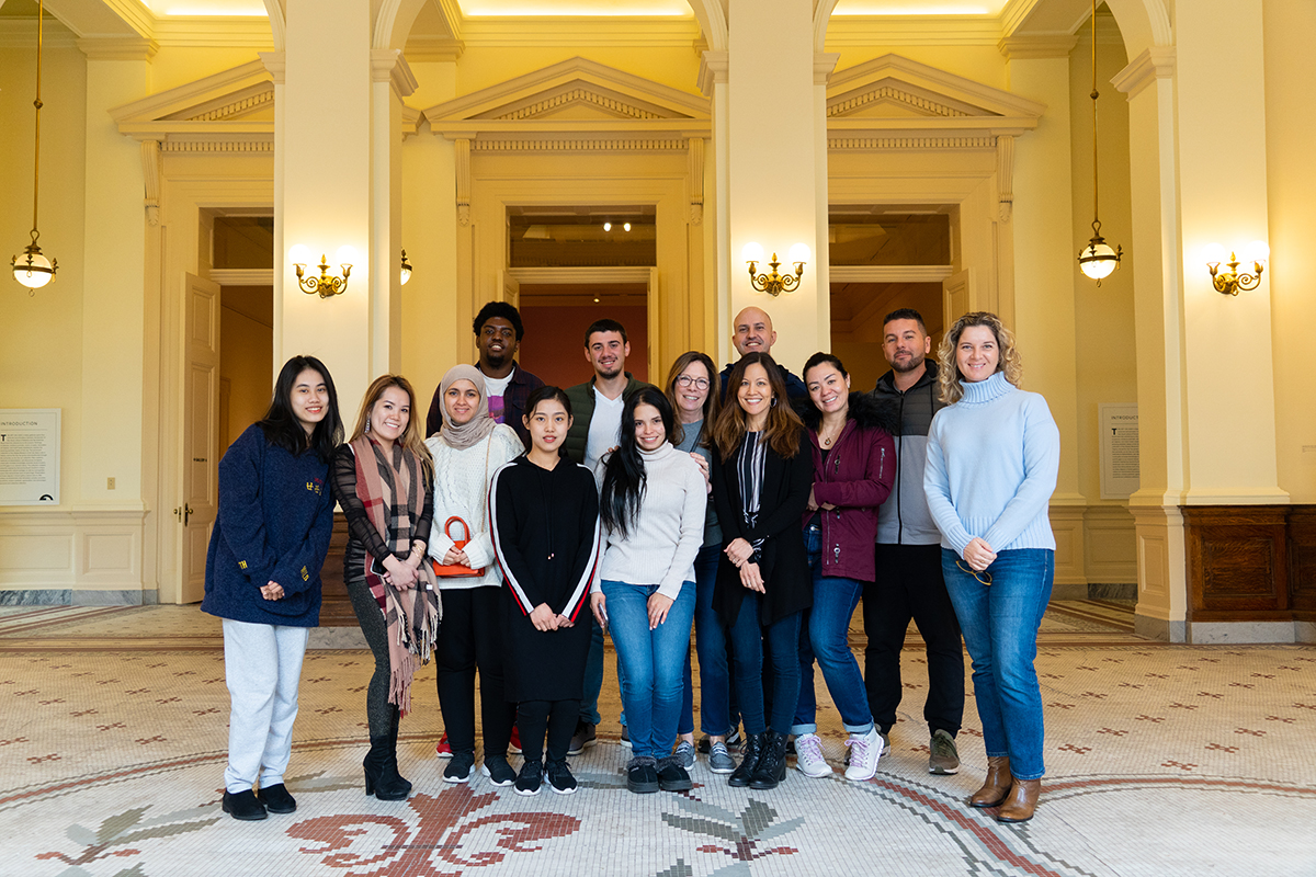 College of Charleston ELI Students visit The Gibbes Museum as part of their English studies.