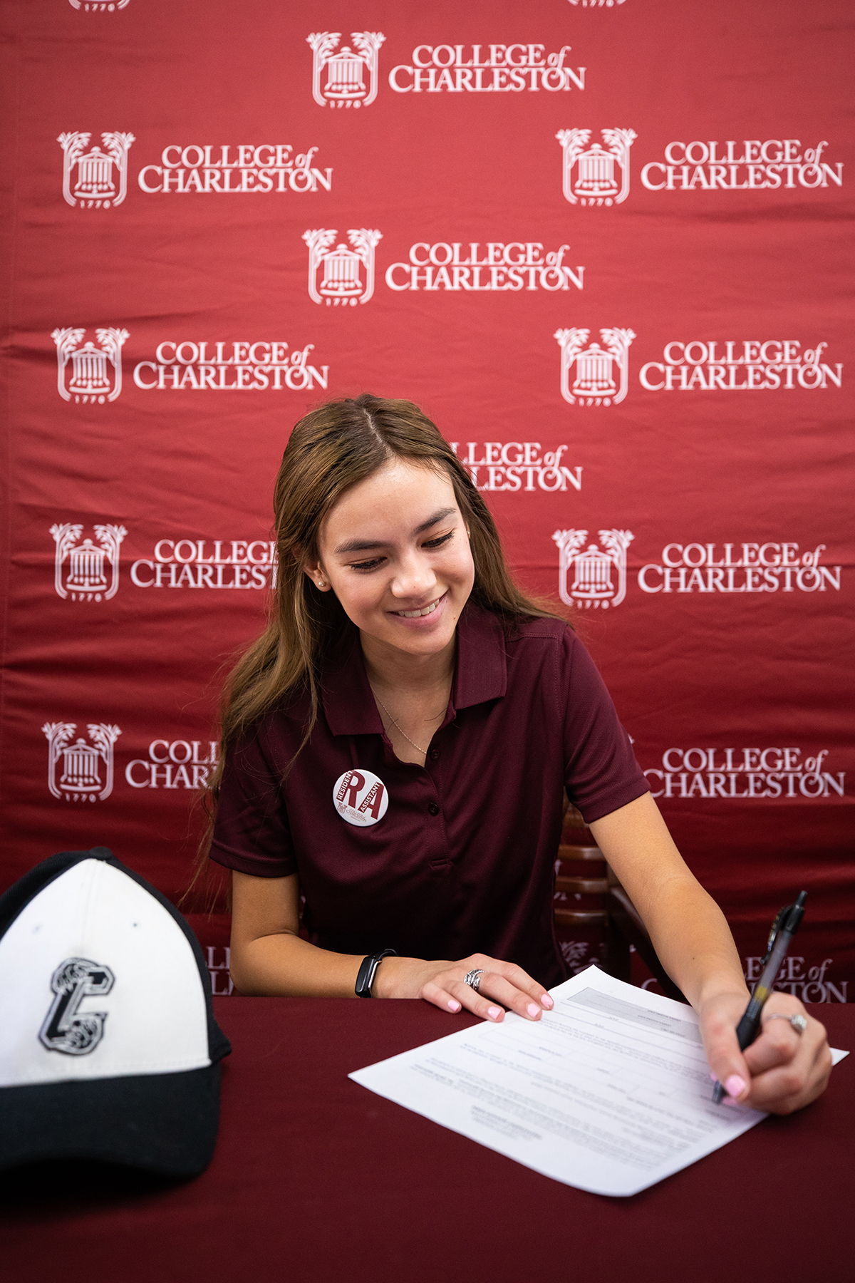 Residence Assistants signing day at Residence Life office, College of Charleston.