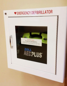 One of CofC's AEDs