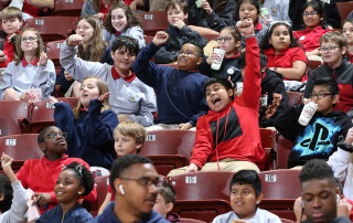 Local students enjoyed a day of fun at the CofC Women's basketball game against William and Mary on February 5, 2020.