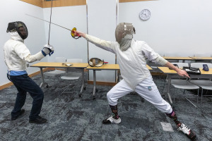 students fencing