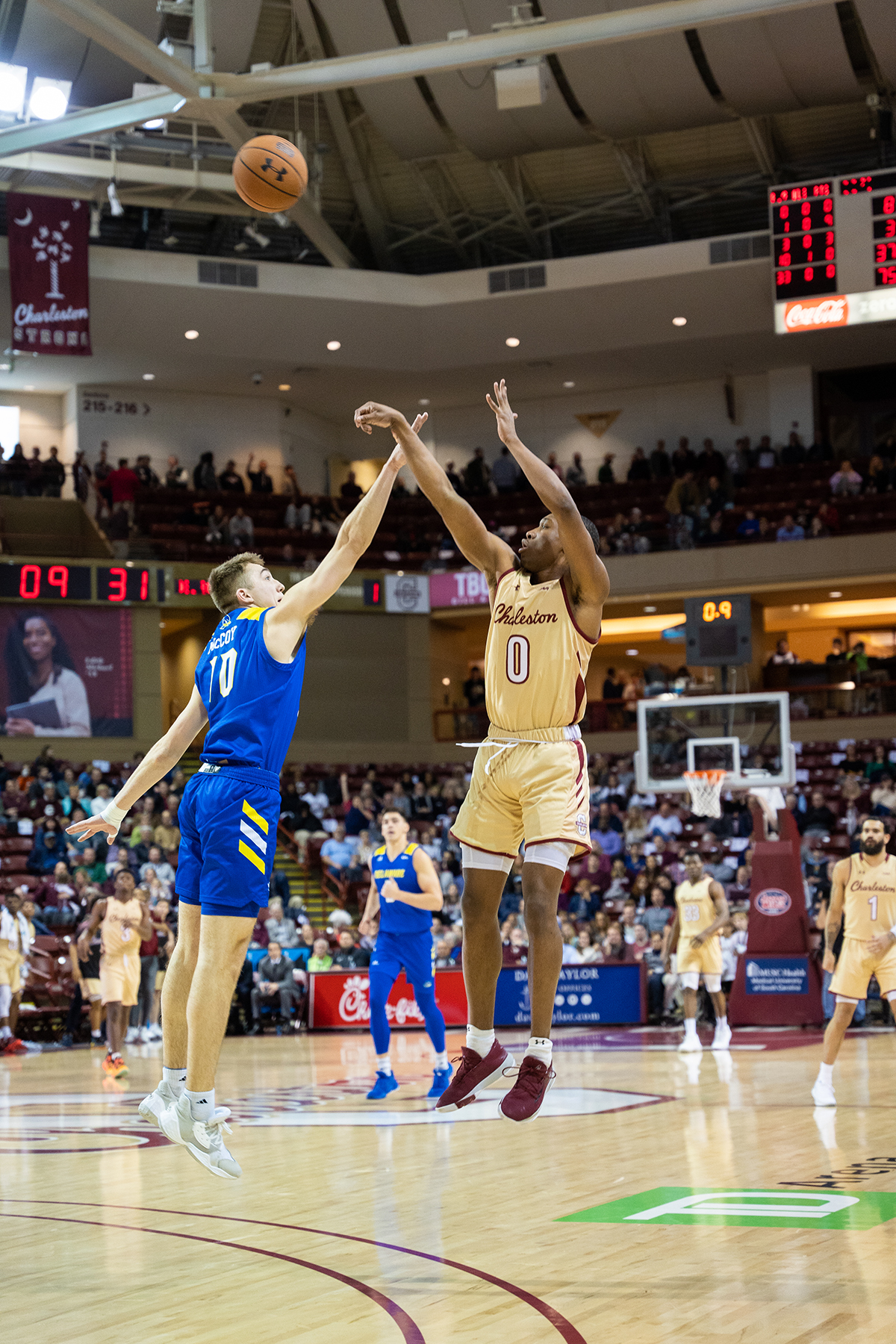 College of Charleston Basketball takes on Delaware at TD Arena.