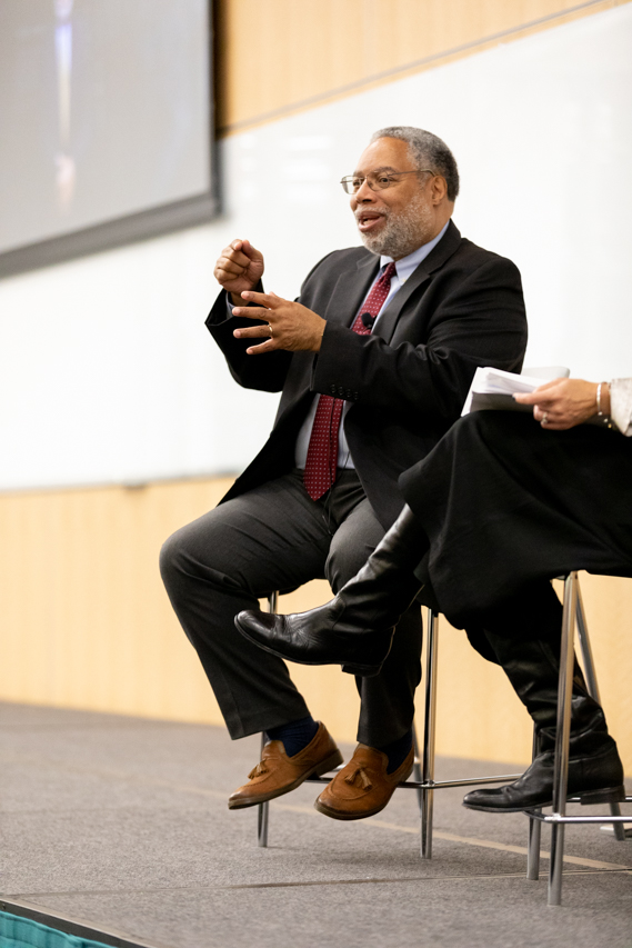 """Lonnie Bunch III, the 14th Secretary of the Smithsonian visited the College of Charleston on the evening of March 6 to talk to CofC about his experiences starting the International African American History Museum and about his book """"A Fool's Errand."""""""