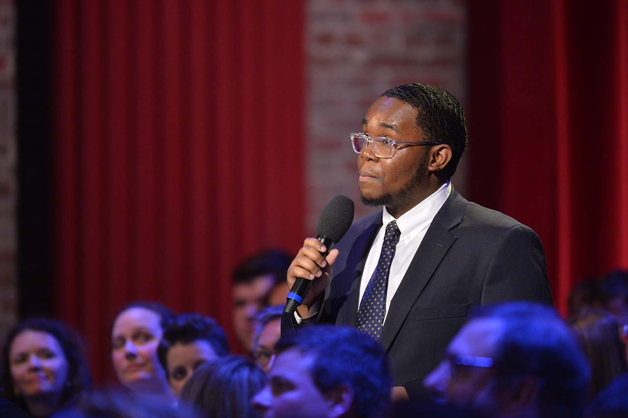 CofC student asks question at CNN town hall