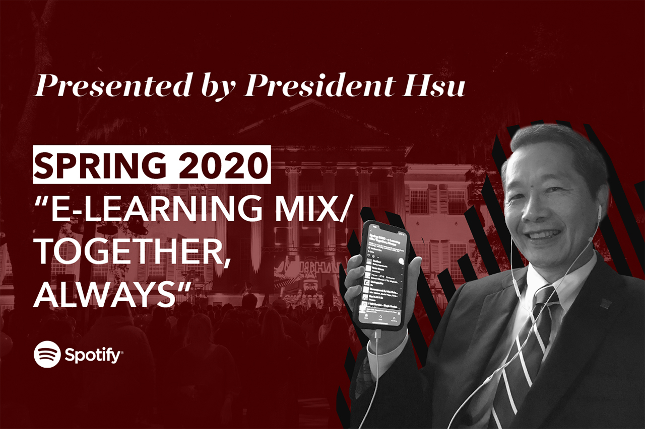 president hsu listens to his playlist