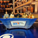 Students working as runners for CBS presidential debate