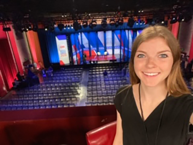 student sallie walkup at CNN town hall
