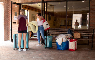 Students move out of mcallister residence hall