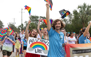Tanner Crunelle at the 2019 pride parade