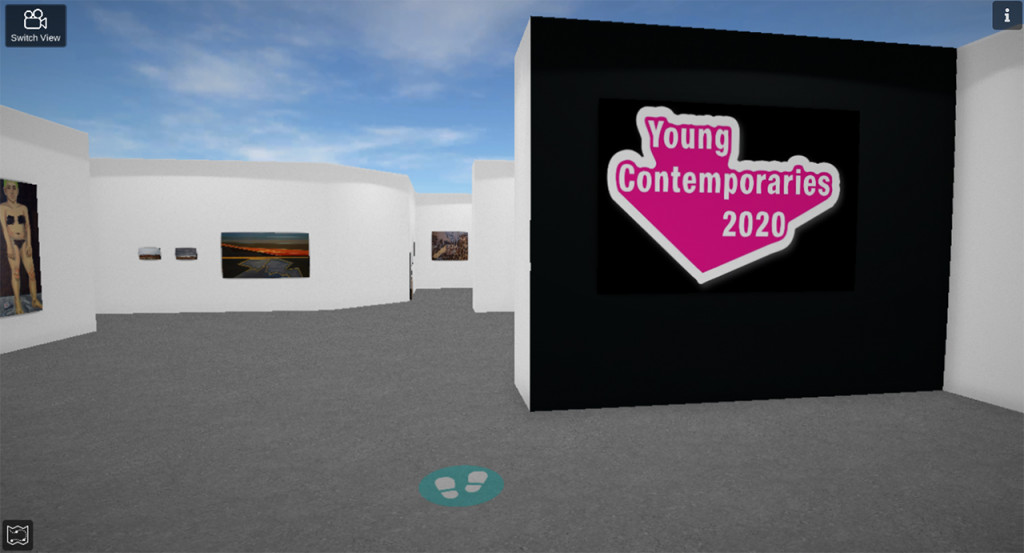 3d image of the virtual young contemporaries gallery exhibit
