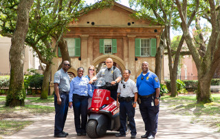 public safety officers in cistern yard