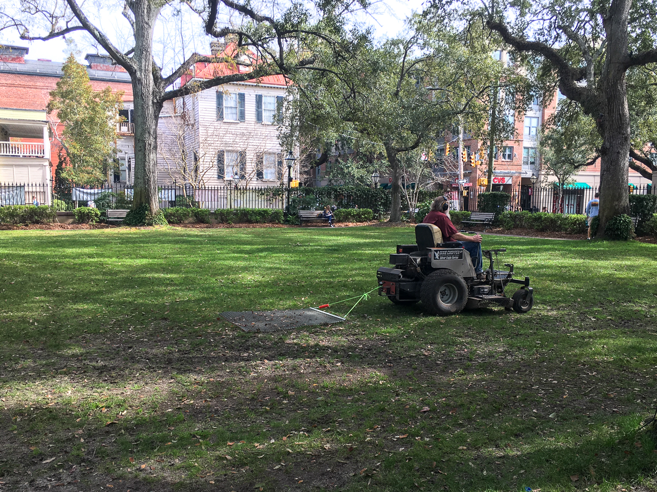 CofC grounds crews work on the campus grounds during the 2020 COVID-19 Pandemic.